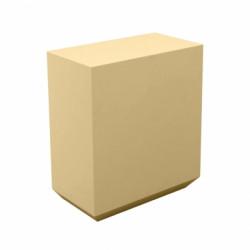Banque d\'accueil Line, élément droit 1m, Proselec beige Mat