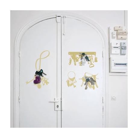 sticker vynil + keys Domestic jaune doré
