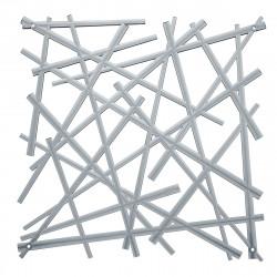 20 carrés séparations design Stixx, Koziol gris anthracite transparent