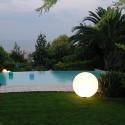 Lampe d'extérieur Globo Out , Slide Design blanc Diamètre 120 cm