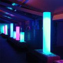 Colonne lumineuse Fluo In, Slide Design blanc, Hauteur 40 cm