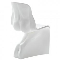 Chaise design Him, Casamania blanc mat