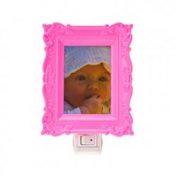 Lampe veilleuse enfant cadre photo j.i.p rose