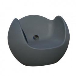 Fauteuil Blos, Slide Design gris éléphant