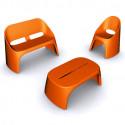 Table basse Amélie Panchetta, Slide Design orange