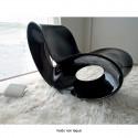 Rocking chair design Voido, Magis noir laqué brillant, glossy