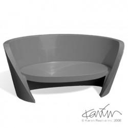 Canapé design Rap, Slide design gris