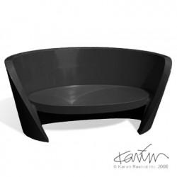 Canapé design Rap, Slide design noir
