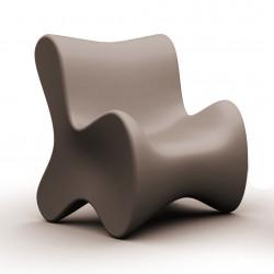Fauteuil design Doux, Vondom gris