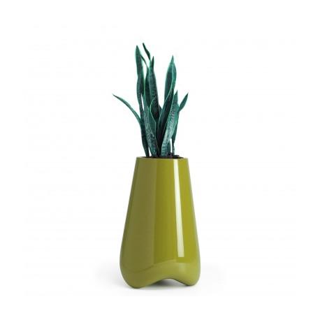Pot de jardin Vlek diamètre 55 cm, Vondom vert laqué Laqué