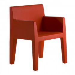 Chaise avec accoudoirs indoor-outdoor Jut Vondom rouge