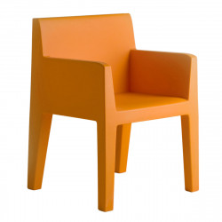 Chaise avec accoudoirs indoor-outdoor Jut Vondom orange