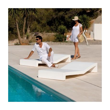 Chaise longue Tumbona Jut, Vondom blanc