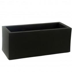 Jardinière rectangulaire grande taille Jardinera noir, Vondom, simple paroi, Longueur 120x50xH50 cm