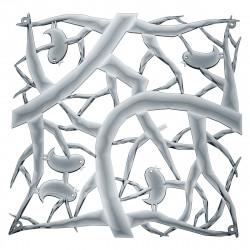 20 carrés séparations design PIP, Koziol gris anthracite transparent