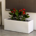 Jardinière grande taille, laquée blanc brillant, Vondom, Longueur 120x50xH50 cm