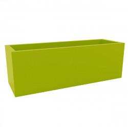Jardinière grande taille, laquée vert pistache brillant, Vondom, Longueur 120x50xH50 cm