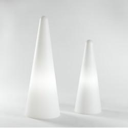 Lampe Cono Out, Slide Design blanc Hauteur 113 cm