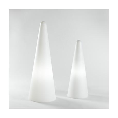 Lampe Cono Out, Slide Design blanc Hauteur 150 cm