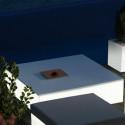 Table basse lumineuse Quadrat, Vondom blanc Grand modèle