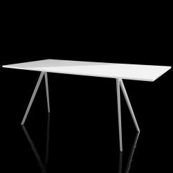 Baguette, grande table à manger design, Magis blanc 160x85 cm
