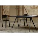 Baguette, grande table à manger design, Magis gris ardoise, noir 205x85 cm
