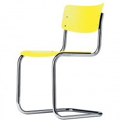 S43 Chaise luge Cantilever, Thonet jaune