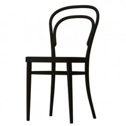 214M Chaise bistrot Thonet, assise bois noir