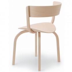 404F Chaise en bois avec dossier large, Thonet bois hêtre