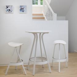 1410 Table haute Thonet blanc laqué