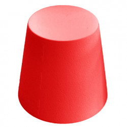 Ali Baba, tabouret design, Slide Design rouge, hauteur d\'assise 43 cm