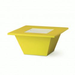 Table basse Bench, Slide design jaune