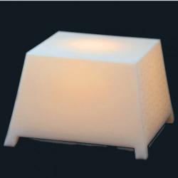 Pouf lumineux Raffy Indoor, Qui est Paul? blanc