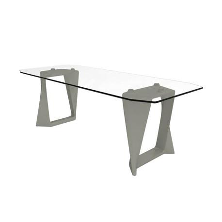 Table Iso, Qui est paul ? gris L220cm