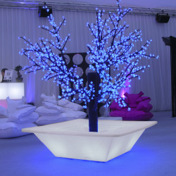 Pot Bench lumineux, Slide Design blanc Grand modèle