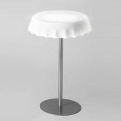 Table haute lumineuse Fizzz, Slide Design blanc