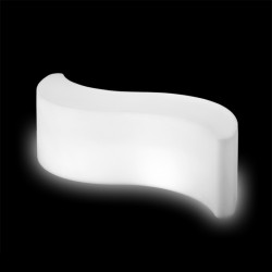 Table basse lumineuse Wave, Slide Design blanc