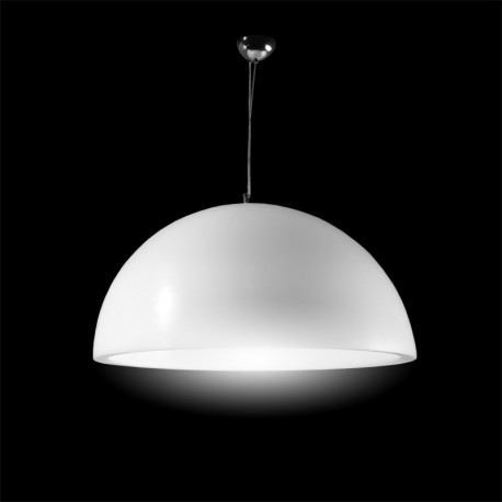 Suspension Cupole, Slide Design blanc Diamètre 80 cm