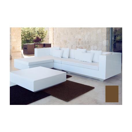 Salon Vela : canapé + pouf + table basse, Vondom bronze