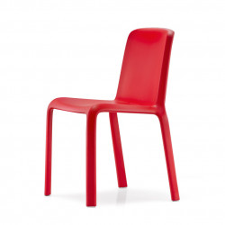 Chaise Snow 300, Pedrali rouge
