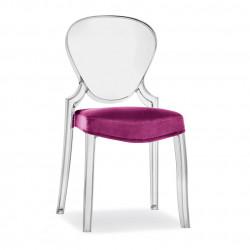Queen 650.3, lot de 5 coussins pour chaise Queen 650, Pedrali fuchsia