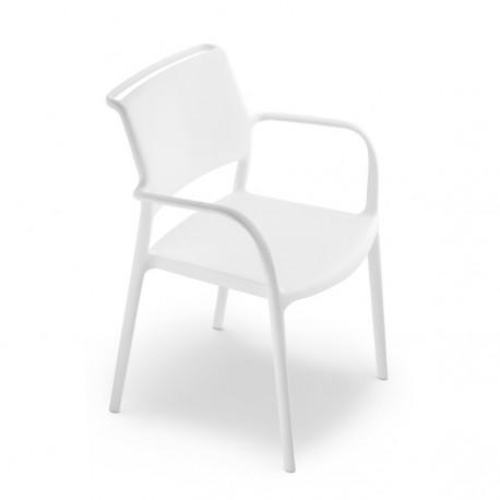 Chaise avec accoudoirs Ara 315, Pedrali blanc