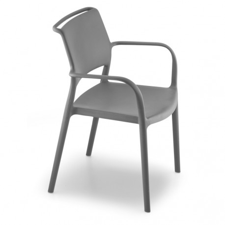 Chaise avec accoudoirs Ara 315, Pedrali gris anthracite