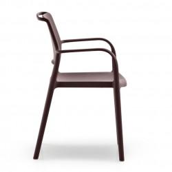 Chaise avec accoudoirs Ara 315, Pedrali marron