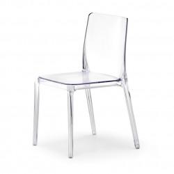 Blitz 640 chaise, Pedrali transparent