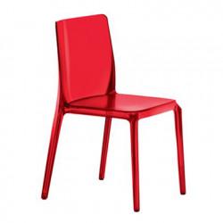 Blitz 640 chaise, Pedrali rouge transparent