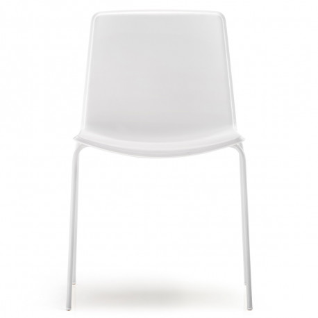 Chaise Tweet 890, Pedrali blanc Pieds vernis