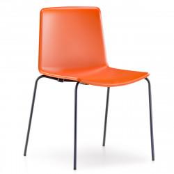 Lot de 4 chaises Tweet 890, Pedrali orange Pieds vernis