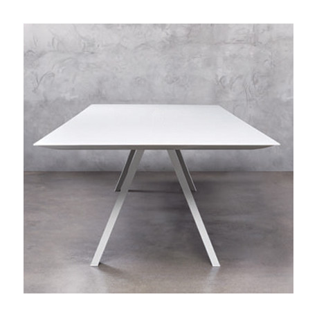 Arki, grande table design, Pedrali blanc 240x100 cm