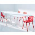 Arki, grande table design, Pedrali blanc 300x100 cm